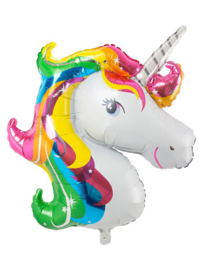 Unicorn Folie Ballon - regenboog XXL