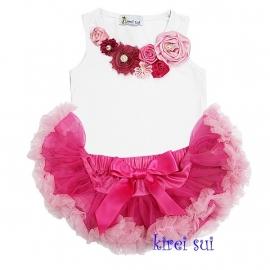 Pettiskirt pink roze + top