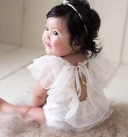 Fotoshoot babypakje met parels
