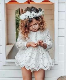 Fotoshoot babypakje wit (2-delig)
