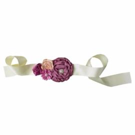 Luxe riem handgemaakt vintage paars