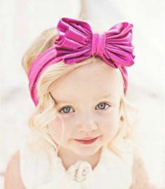 Haarband pink grote strik