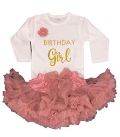 Verjaardag set Birthday Girl, dusty pink