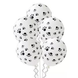 Ballon afdruk poot, 5 stuks