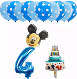 Mickey Mouse ballonnen 4 jaar (13-delig)
