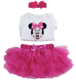 Minnie Mouse pink (3-delig)