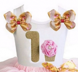 Top 1 jaar goud romantisch cupcake
