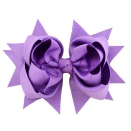 Haarclip strik paars