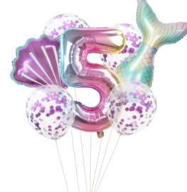 Zeemeermin ballonnenset 5 jaar