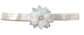 Haarband bloem klein, ivoor