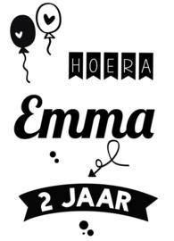 Raam-muur sticker verjaardag -Hoera !