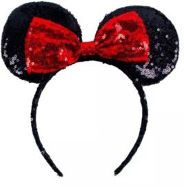 Minnie Mouse glitter diadeem rood *