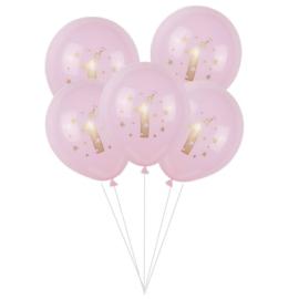 Verjaardag Ballonnen  ROZE - 5 stuks