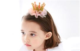 Luxe haarclip kroon goud
