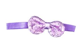 Haarband strik met pailletten, lila