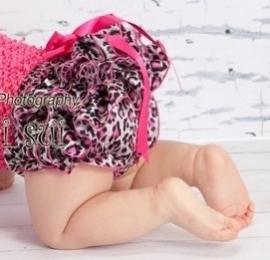 Luierbroekje luipaard pink