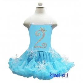 Frozen verjaardag jurk 1 t/m 7 jaar
