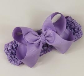 Haarband Lavendel strik