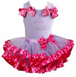 Tutu Satijn set Princess lavendel/pink
