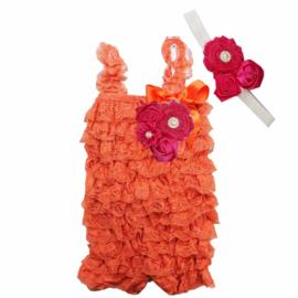 Jumpsuit Luxe Oranje + haarband
