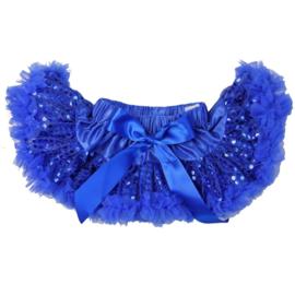 Pettiskirt blauw glitters