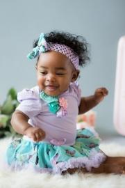 Babyjurk vlinder + haarband