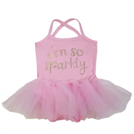 Babyjurk tutu roze I'am so Sparkly