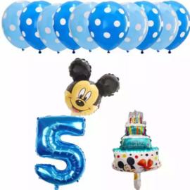 Mickey Mouse ballonnen 5 jaar (13-delig)