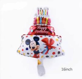 Mickey Mouse taart ballon
