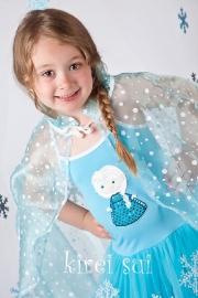 Frozen jurk prinses Elsa (zonder cape)
