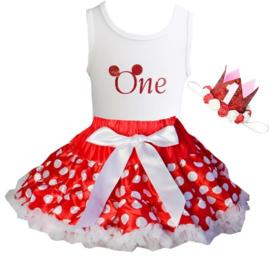 Minnie Mouse verjaardagset ONE