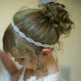 Luxe Crystal haarband fijn