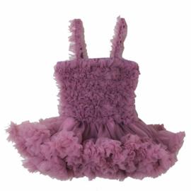 Feestelijke kinderjurk vintage paars ( mt. 74)
