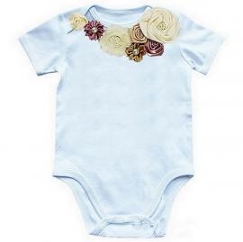 Baby shirt Vintage Paars/Creme