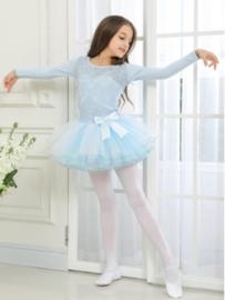 Balletpak blauw kant