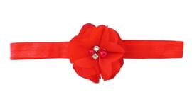 Haarband bloem klein, rood