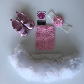 Babyset wit-roze (4 delig)