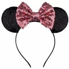Minnie Mouse ROZE glitter diadeem luxe