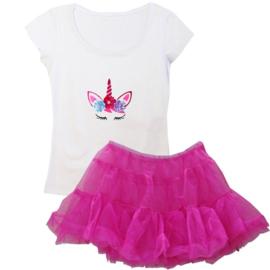 Unicorn tutu set pink