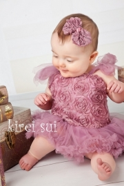 Haarclip blossom strik vintage paars
