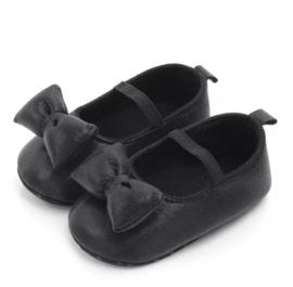 Babyschoen Minnie Mouse 3D strik, zwart