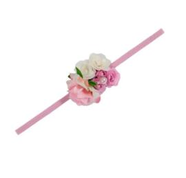 Haarband bloem romantisch pink
