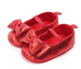 Babyschoen Minnie Mouse 3D strik, rood