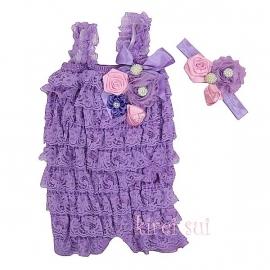 Jumpsuit Luxe lavendel + haarband