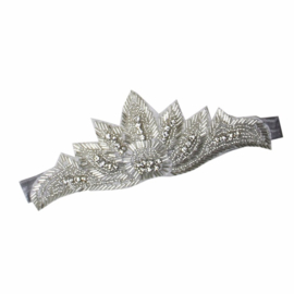 Haarband met steentjes zilver
