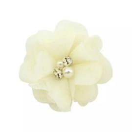 Haarclip bloem ivoor