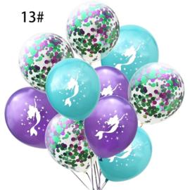 Zeemeermin Ballonnen nr. 13 - 10 stuks