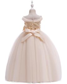 Feestjurk elegant creme strapless