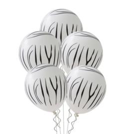 Ballon zebra, 5 stuks