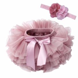 Tutu Dusty Pink + luxe haarband
